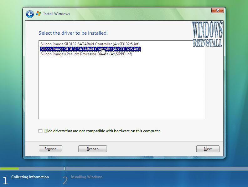 Install Windows Vista from Bootable